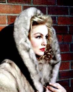 Julie Newmar in fur