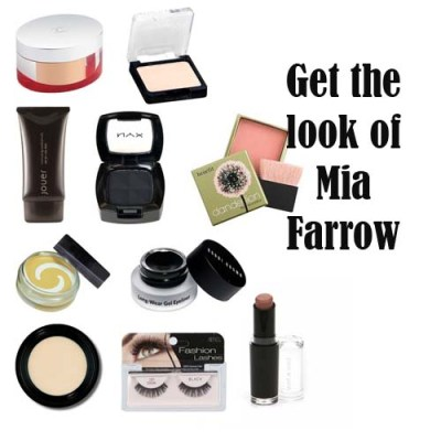 Mia Farrow makeup collage