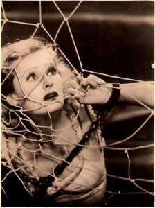 Lilian Harvey in a web