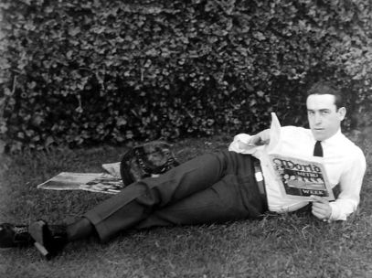 Harold Lloyd and bulldog