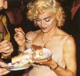 Madonna and cake
