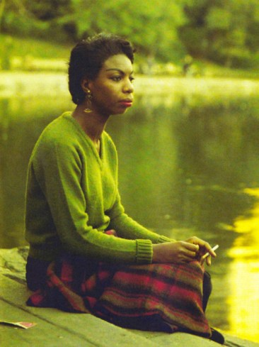 Nina Simone smoking