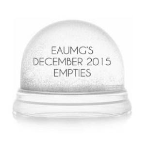 December 2015 Empties