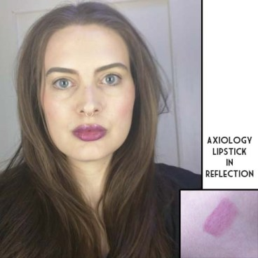 Axiology Lipstick in Reflection