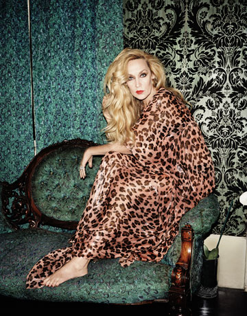 Jerry Hall leopard print