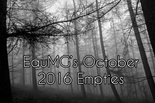 October 2016 Empties