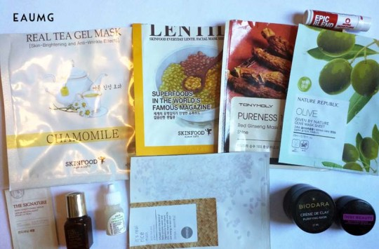 December skincare empties