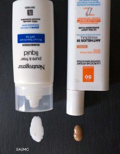 EauMG facial sunscreens