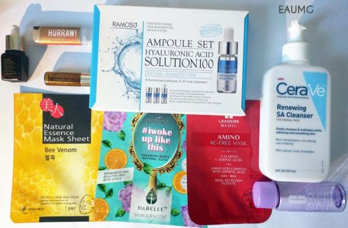 July 2017 skincare empties