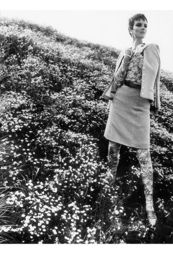 Grace Coddington and wildflowers