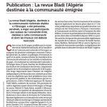 El Watan du 26 juillet 2009 Revue Bladi l'Algérie