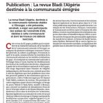 El Watan du 26 July 2009 Bladi Review of Algeria