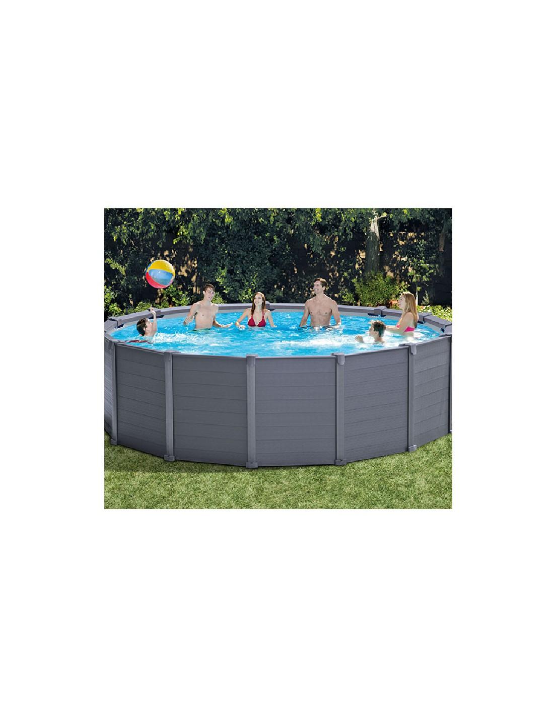 piscine graphite 4 78x1 24m intex eau