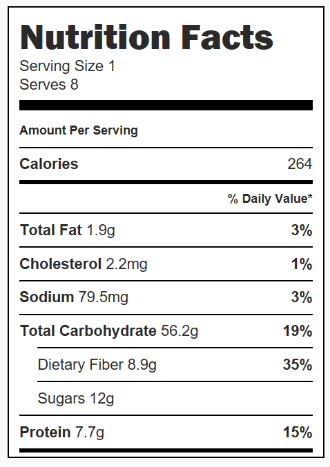 Potato, Pepper, and Suasage Bake Nutrition Facts