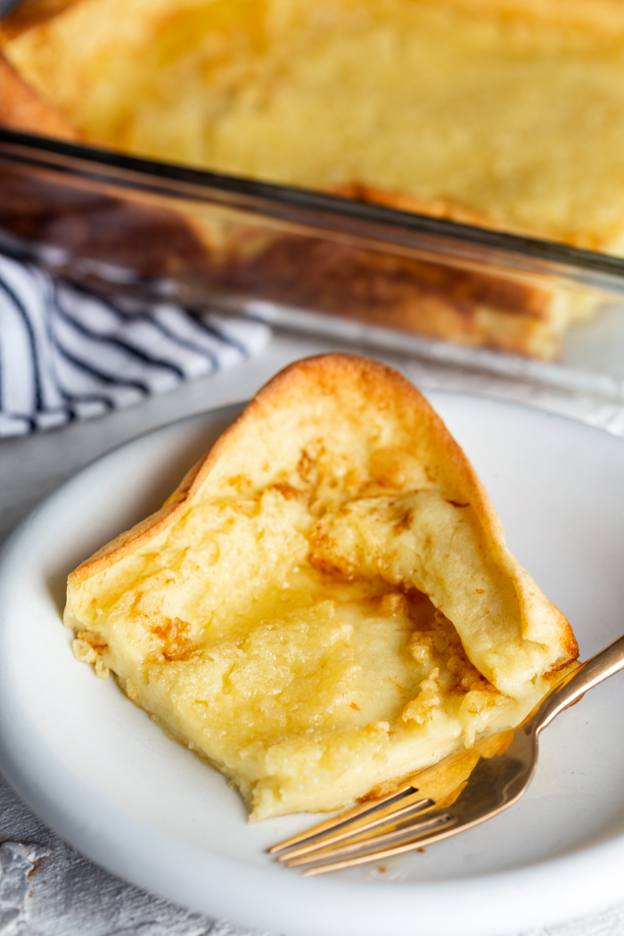 A delicious german pancake breakfast, dutch babies or puff pancakes