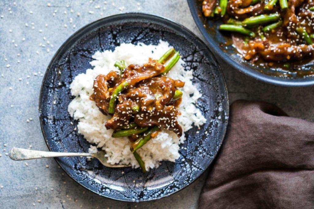 Mongolian Beef easy one skillet dinner solution