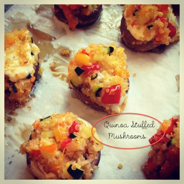 quinoa veggie stuffed mushrooms