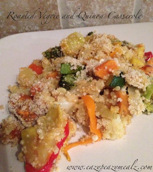 roasted veggie quinoa casserole