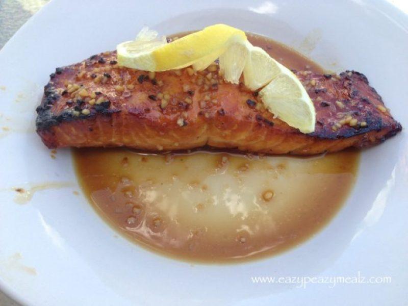 oriental glazed salmon