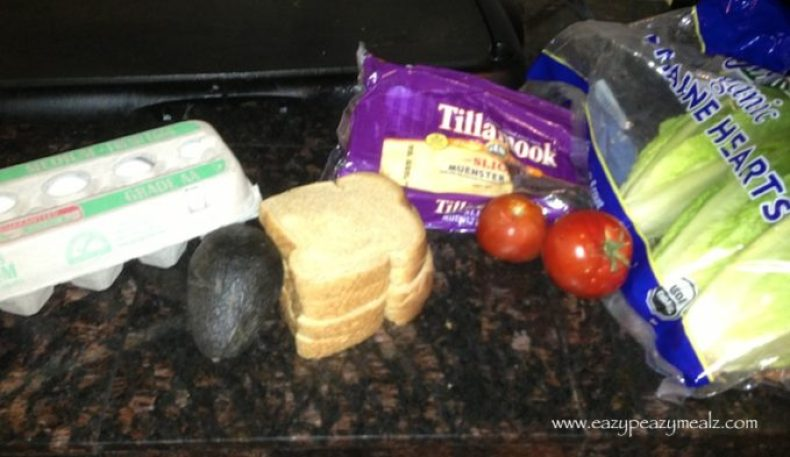 fried egg BLT ingredients