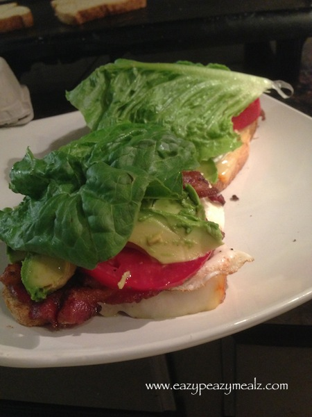 fried egg and avocado BLT