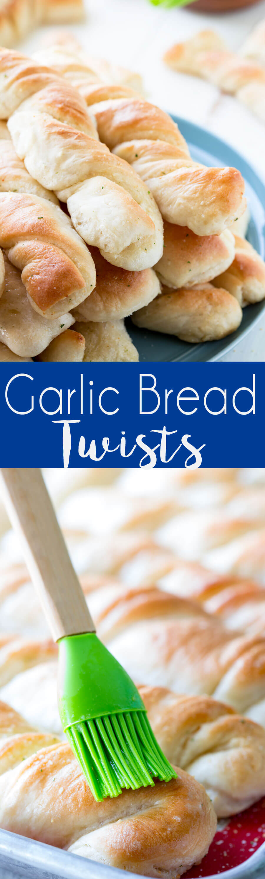 Garlic Bread Recipe: This easy to make garlic bread recipe makes 20-30 buttery, garlicky, and absolutely delicious garlic bread twists in under and hour.