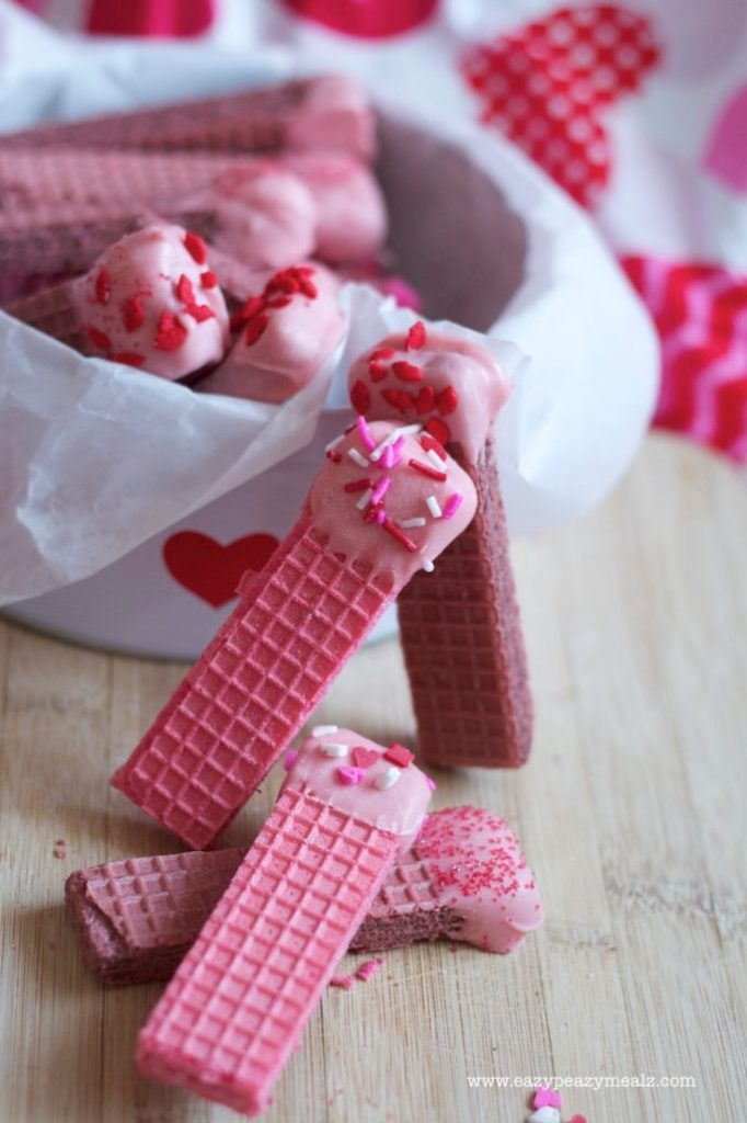 Valentine's Day Wafer Cookies
