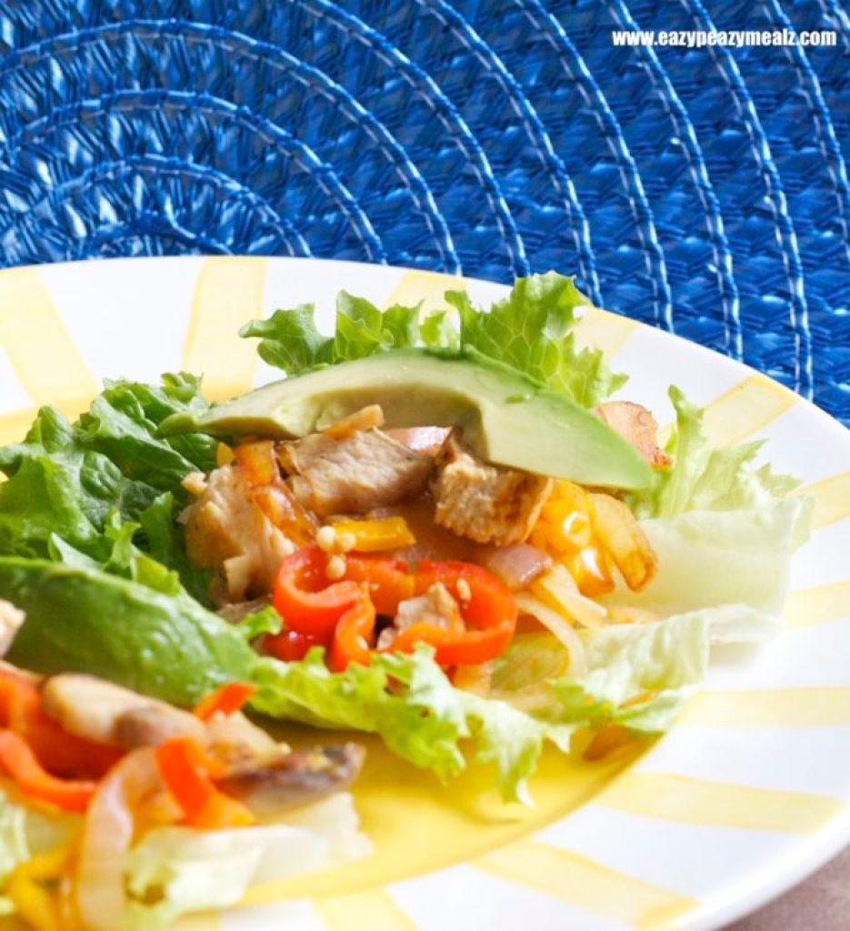 lettuce wrap fajita