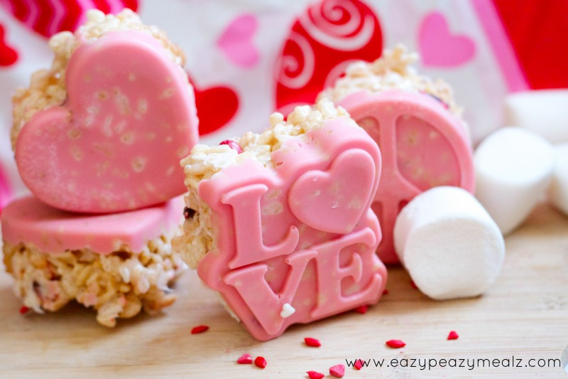 molded rice crispies #Valentine's Day