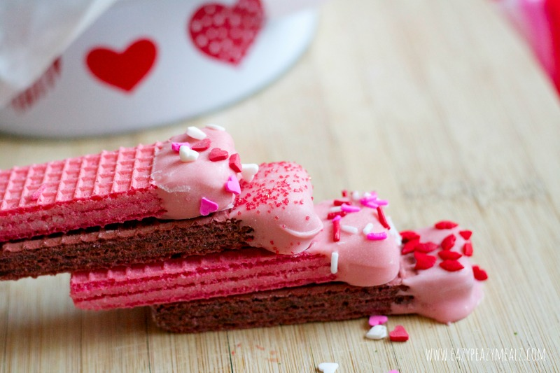 chocolate dipped wafer cookies vday