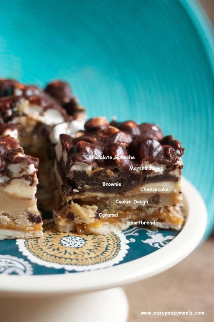 layered sugar coma bars