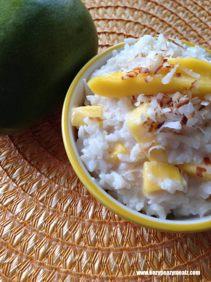 Coconut Mango Rice Pudding (Dairy Free) - Easy Peasy Meals
