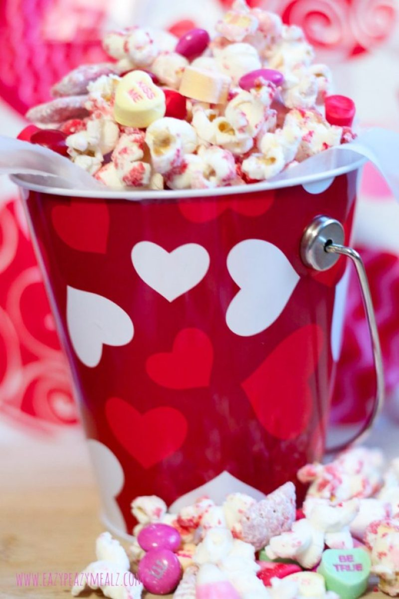 valentine's popcorn white chocolate