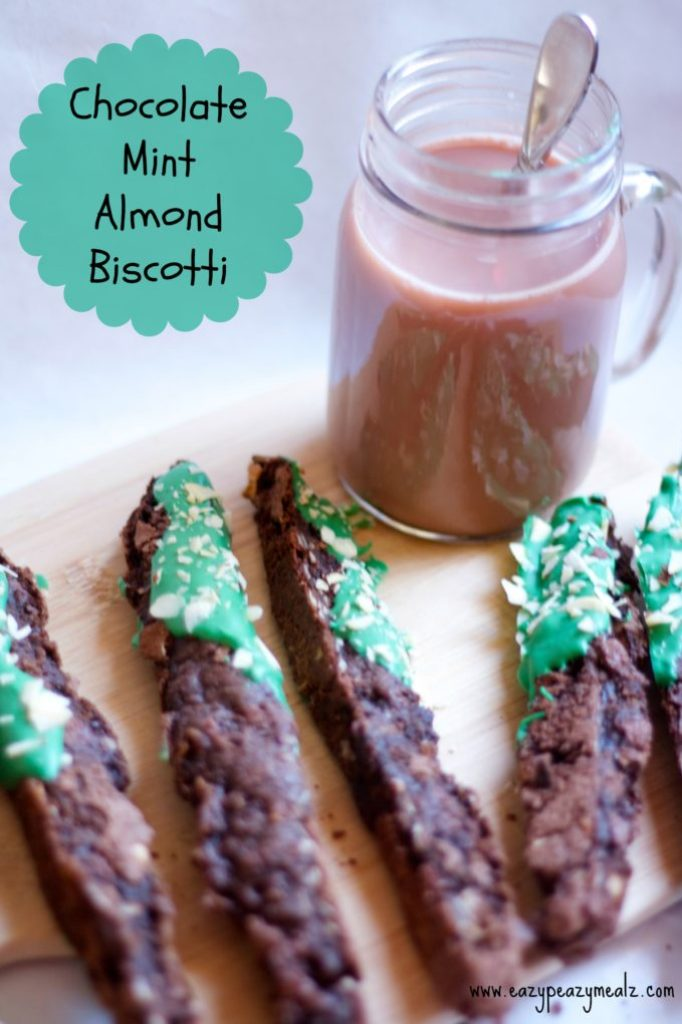 biscotti, chocolate mint almond