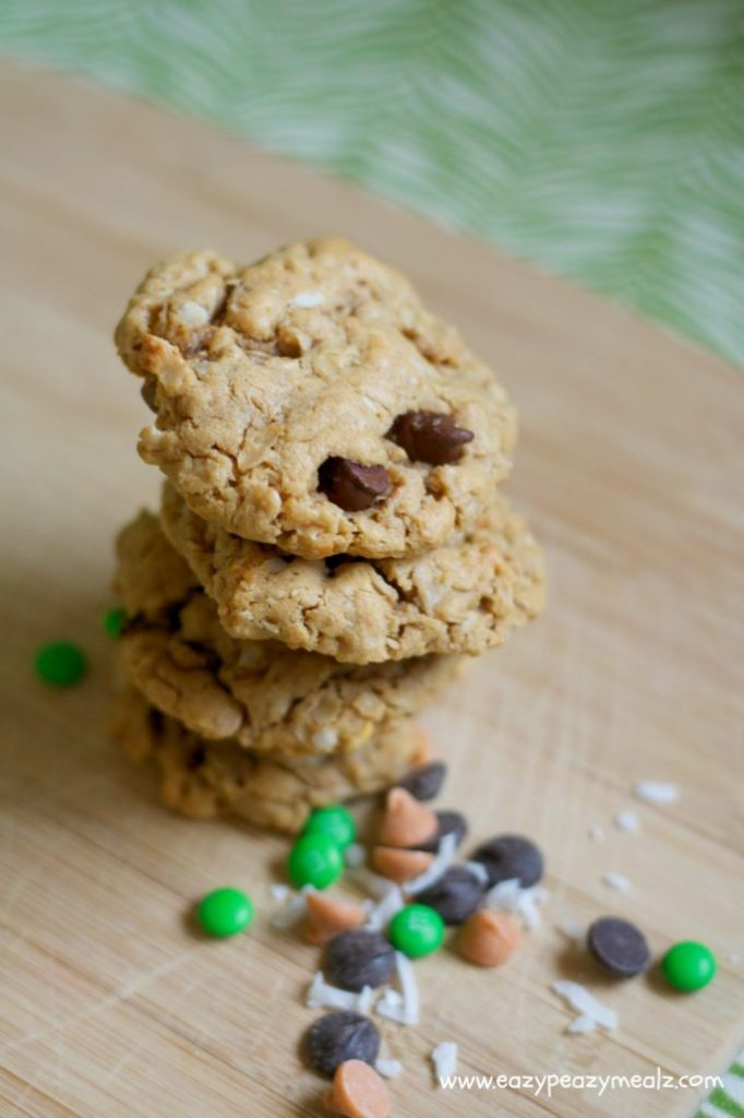 monster cookies with oats and pb