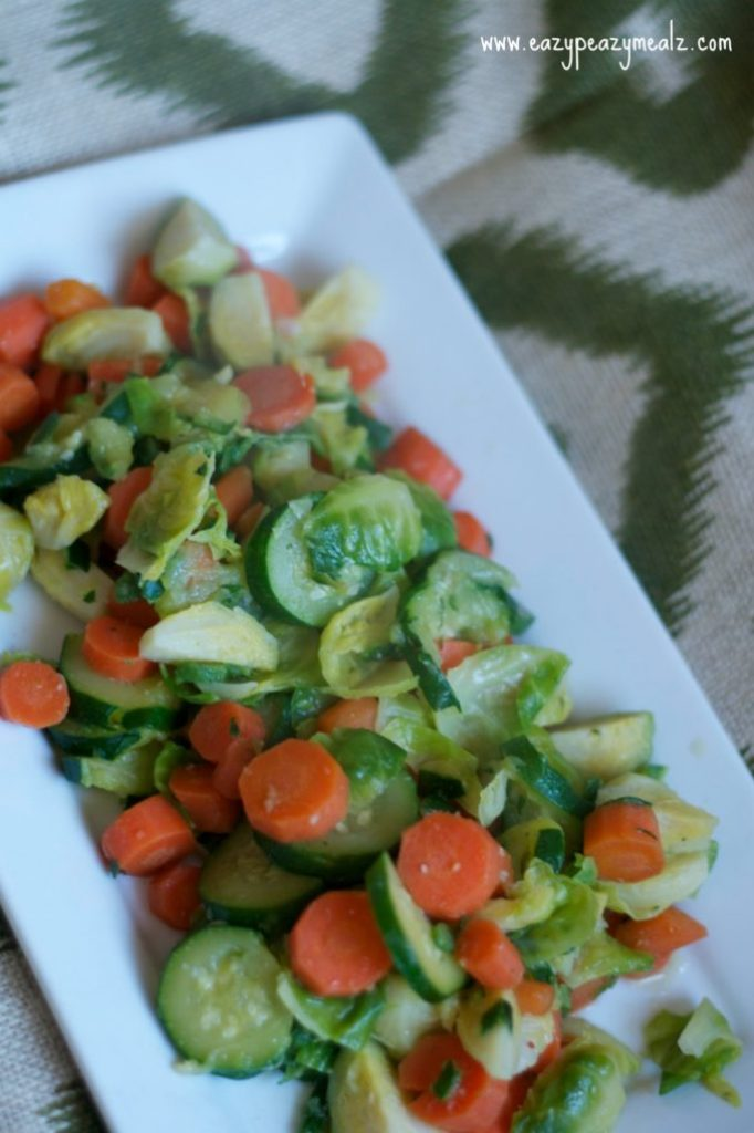 quick saute veggie plate