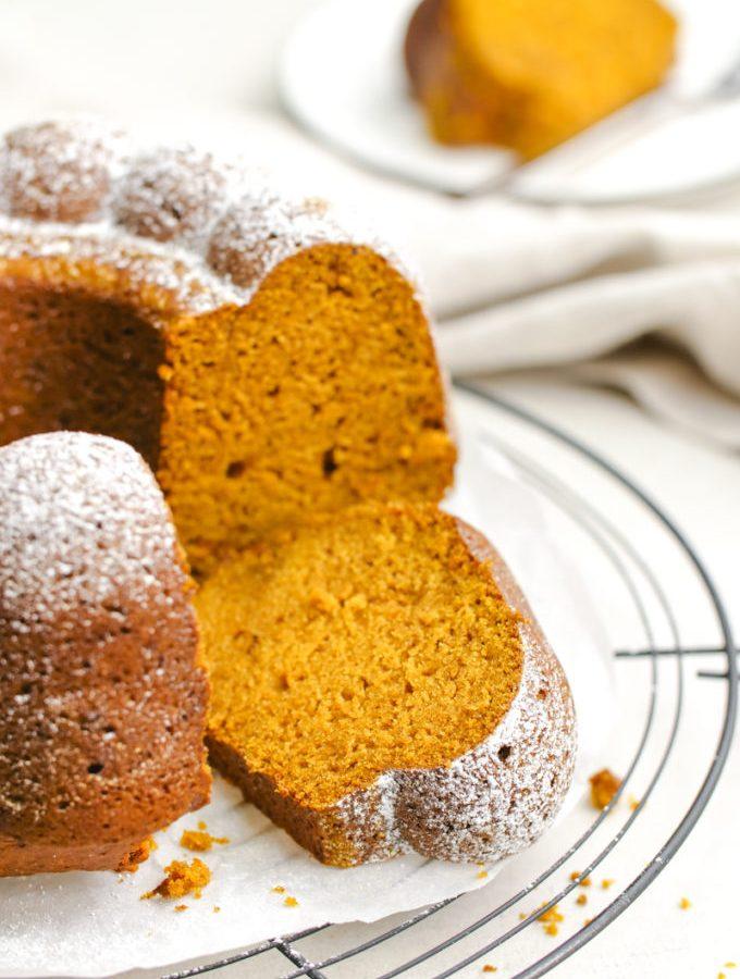 Rich and moist pumpkin pound cake