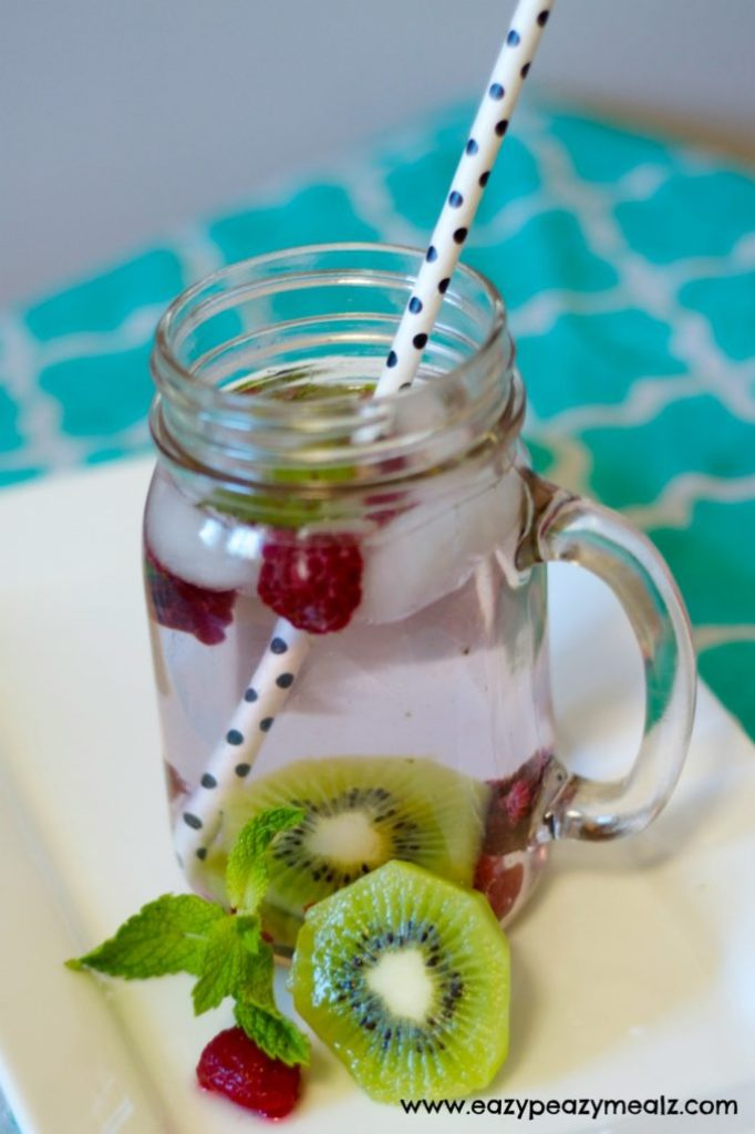 raspberry and kiwi water