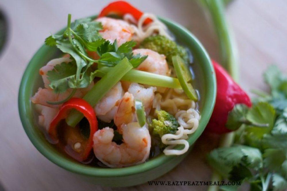 spicy thai noodle bowl