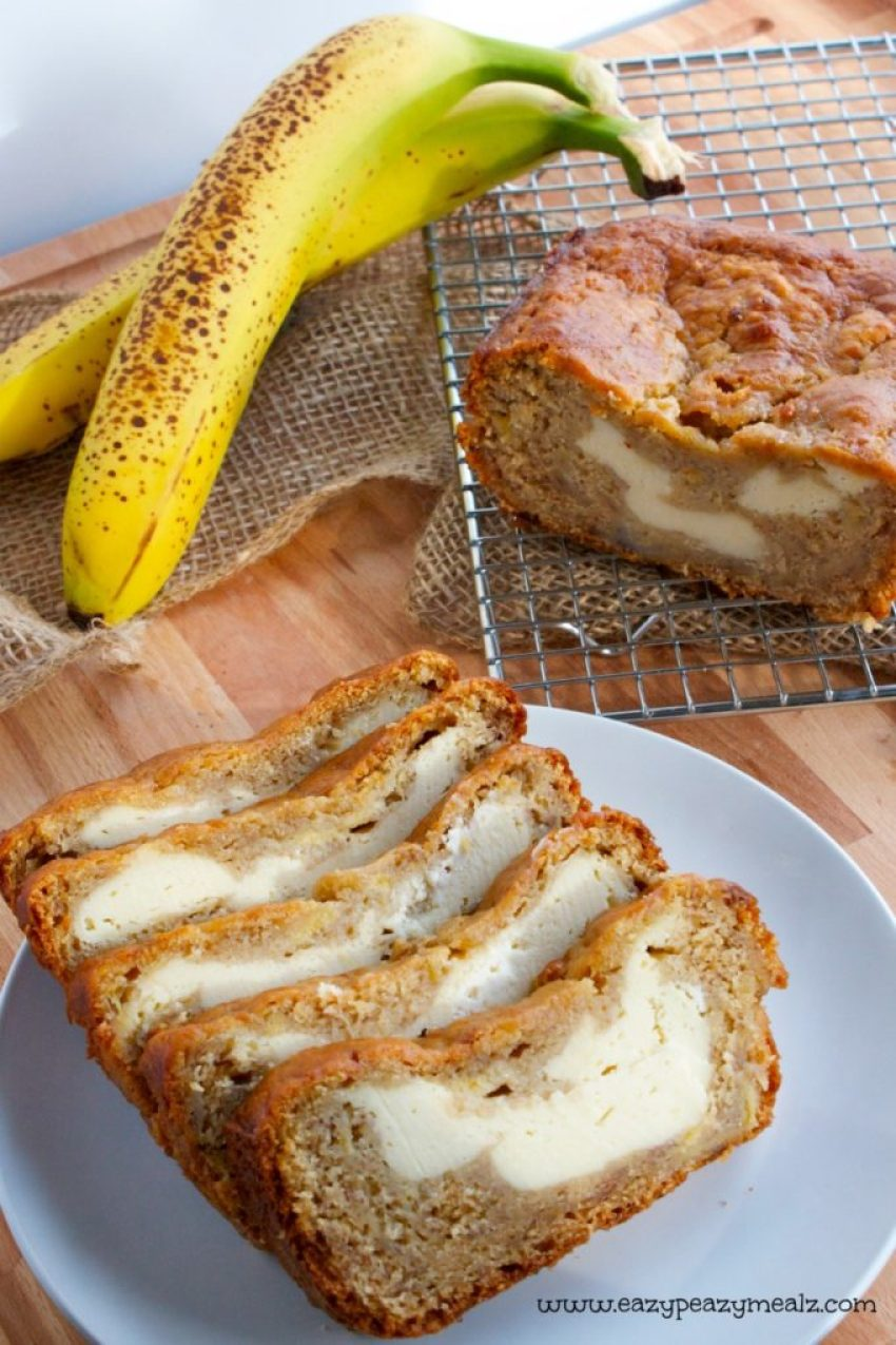 cream cheese and banana bread