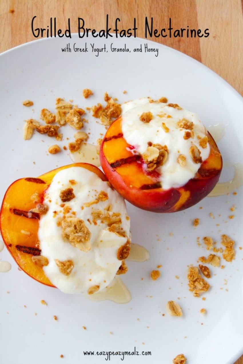 Roasted Nectarine With Honeygreek Yogurt