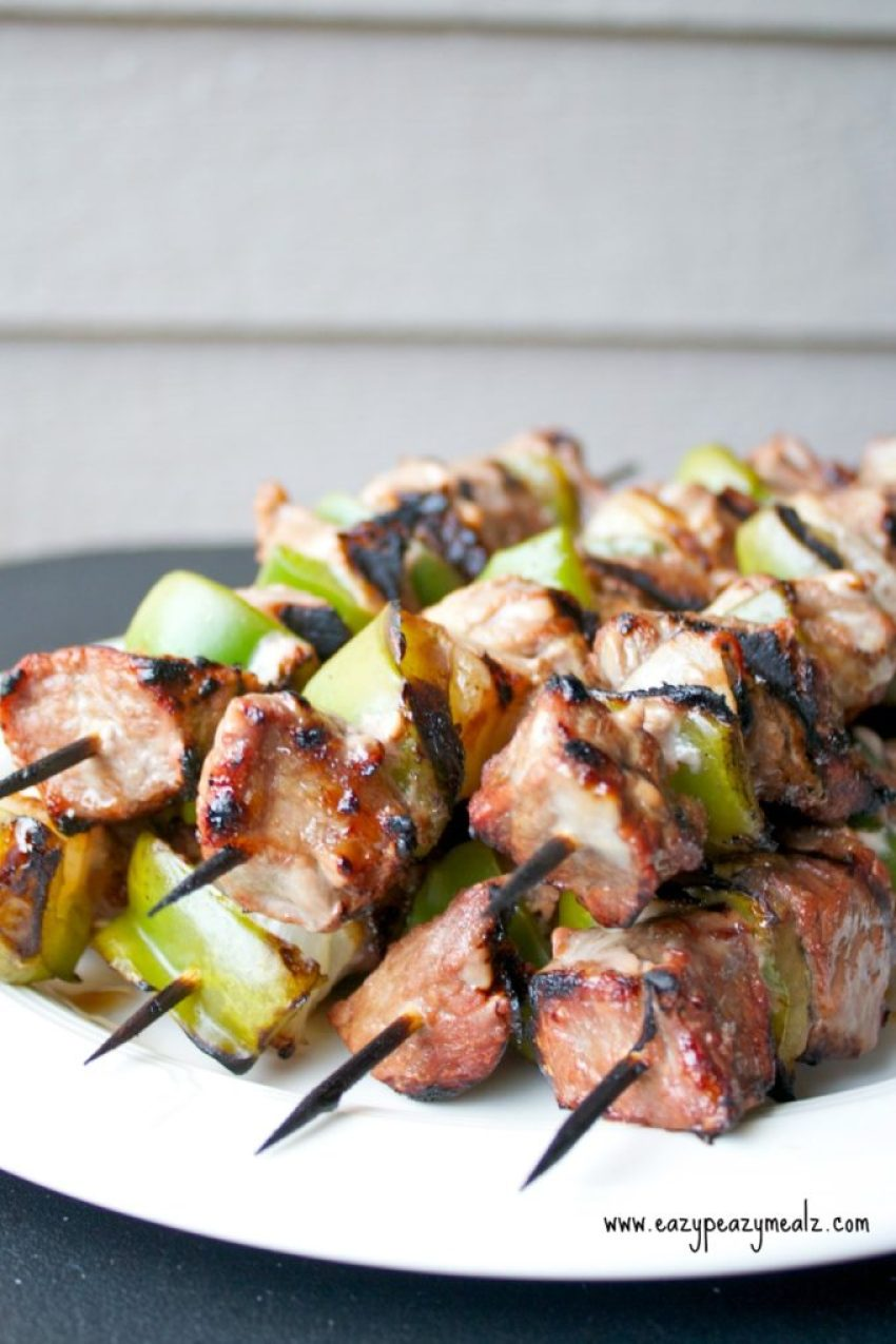 Beef Kabob Marinade: A sweet and tangy marinade makes these beef kabobs tender and tasty, and the ideal grill meal!