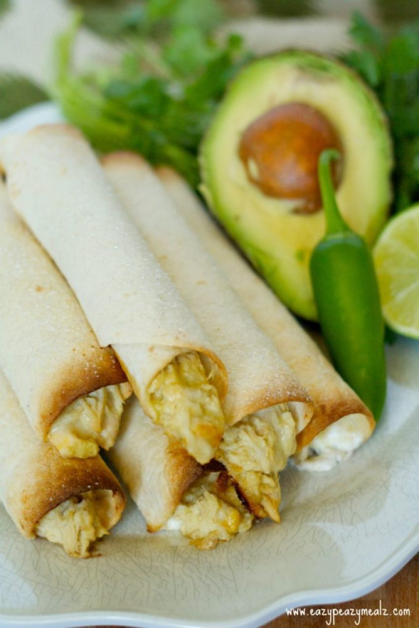 creamy jalapeno chicken taquitos
