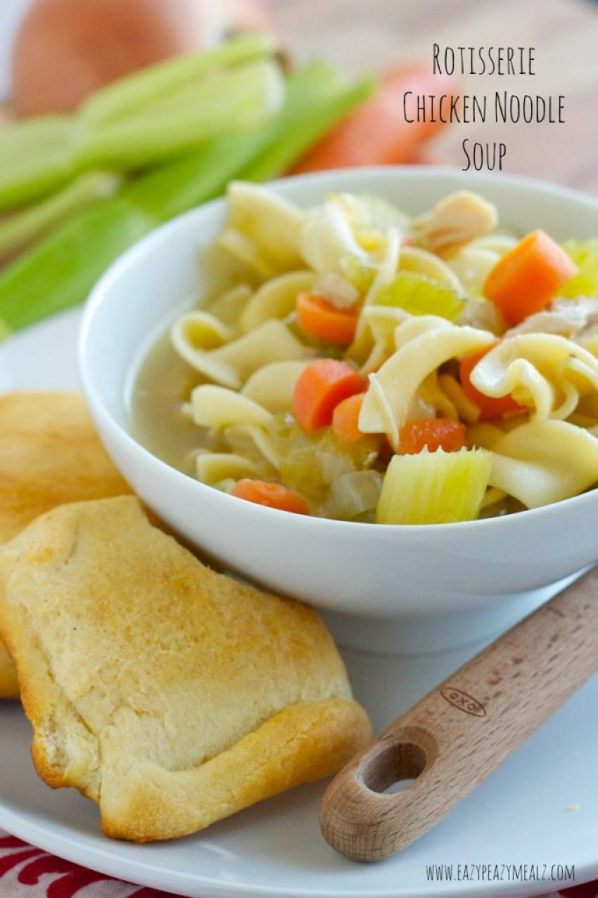 Rotisserie Chicken Noodle Soup!