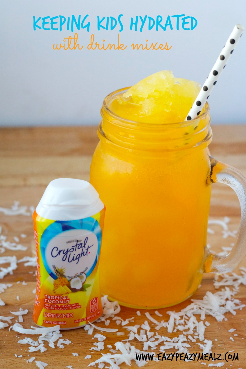 keeping kids hydrated with drink mixes