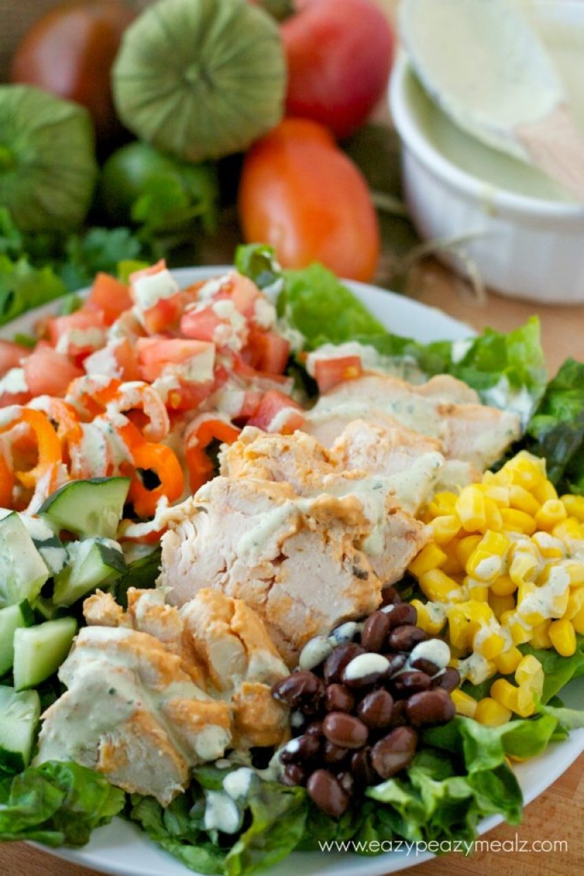 chicken green salad #southwest #sald #healthy