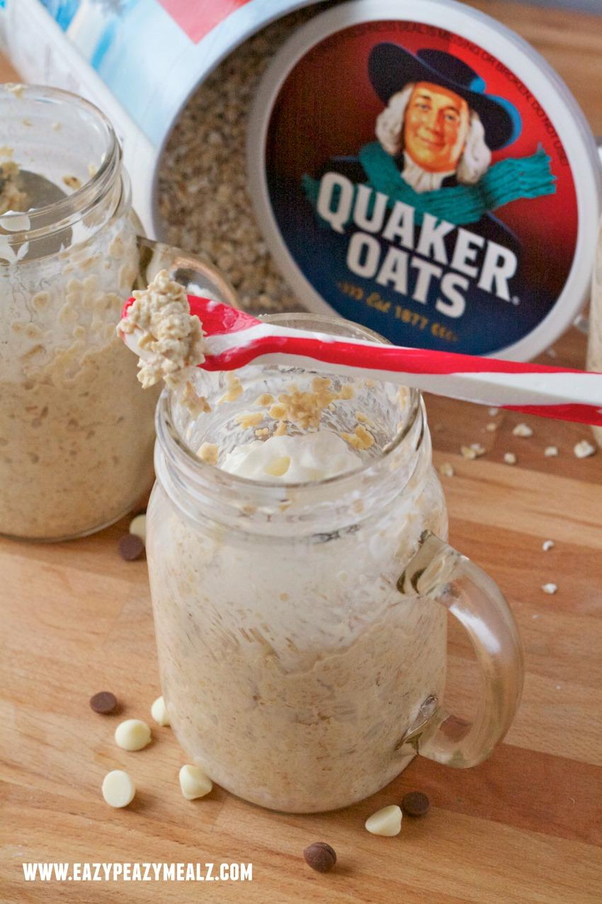eggnog oatmeal #overnight oats #eggnog