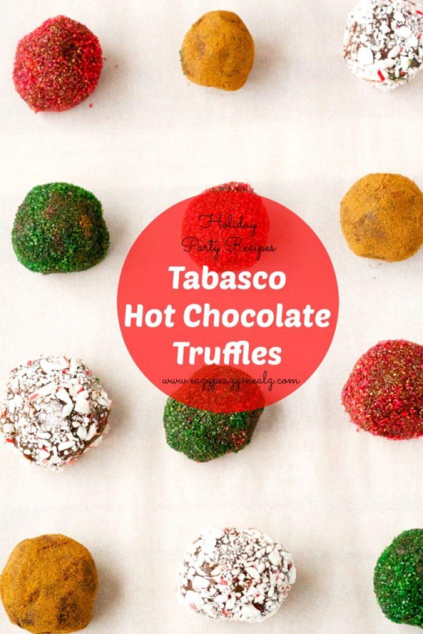 holiday recipes tabasco hot choco truffles #seasonedgreetings