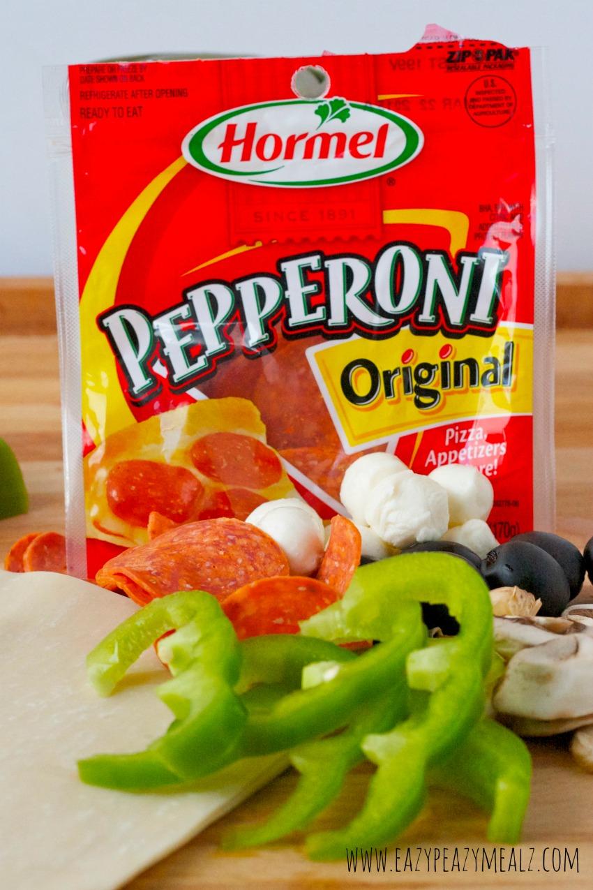 pepperoni, ingredients #eggrolls #pepitup