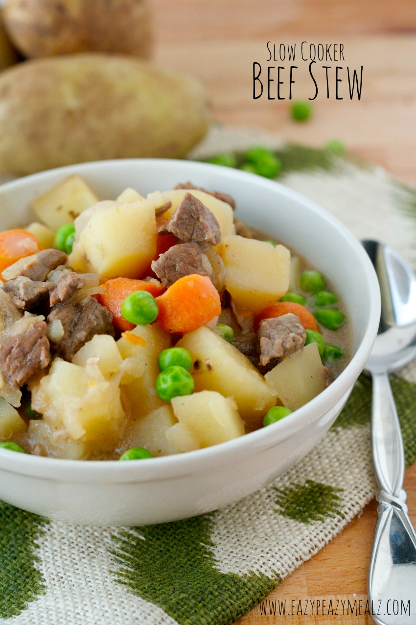 slow cooker beef stew eazy peazy mealz #Beefstew